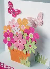 original handmade pop up card tulip birthday card card