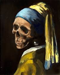 painting girl with pearl earring dead master series dead girl with pearl earring by wingedcanvas