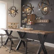 Rustic Industrial Dining Chairs Cool Rustic Industrial Space With Tractor Stools And Metal Orb