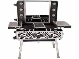 small mirror with lights furniture zebra small make up table set with lighted mirror as well