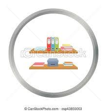 arriere plan bureau animé dossiers style illustration bureau étagères symbole