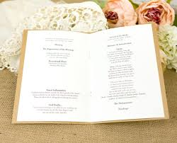 Wedding Inserts Order Of Service Booklets A5 With Printed Inserts From Razzle