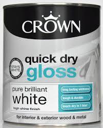 crown quick dry gloss pure brilliant white high shine interior