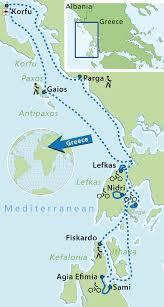 Kefalonia Greece Map by Bike Holidays Multi Adventure Cruise Ionian Islands Islandhopping