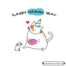 Happy New Year Cat Meme - new year cat gif find share on giphy