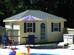 Hipped Roof House 12 X 16 Hip Roof Pool House Myers Barn Shop
