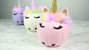 these diy glam unicorn pumpkins are just too gourd to be true