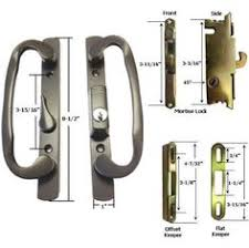 Patio Door Mortise Lock by Indent Handle With Key Lock For Sliding Glass Doors Sliding