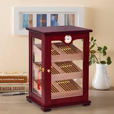 cigar humidor display cabinet costway rakuten costway countertop display humidor 150 cigars