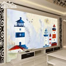 livingroom cartoon aliexpress com buy lighthouse cartoon wallpaper for walls 3 d