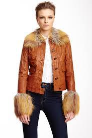 rachel zoe gloria faux fur trim leather jacket nordstrom rack