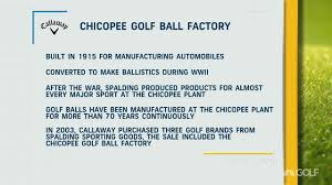 wwii to golf balls chicopee factory s varied history golf channel