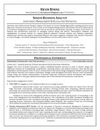 Best Business Analyst Resumes by Re Analyst Resume 2695 Best Resume Sample Template And Format