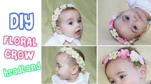 diy floral crown halo and headband baby