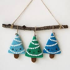 crochet tree ornaments chritsmas decor