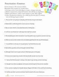 perfect punctuation commas in a series worksheet education com