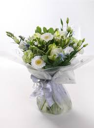 white christmas handtied bouquet the cornflower floral design