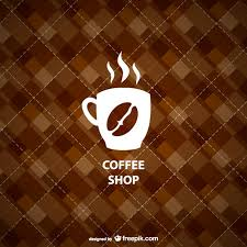 coffee shop background design geometric coffee shop background vector free download