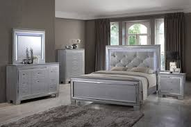 martina silver bedroom set led lights