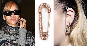 ear pin earrings get rihanna s bold jewelry look for less