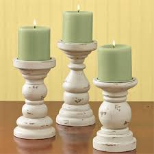 park designs southport short wooden candle holders set of 3 pillar