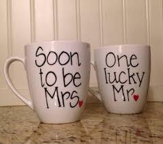 one lucky mr soon to be mrs coffee mugs