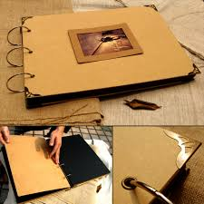 paper photo albums ultralarge paste photo album cowhide paper diy photo album corner