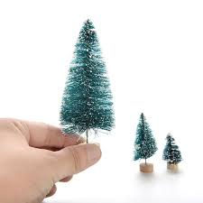miniature christmas trees 1pcs a small pine tree placed in the desktop mini christmas tree