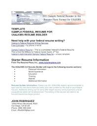 sample usajobs resume federal government resume template federal