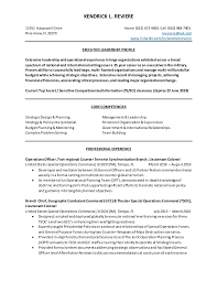 Sample Resume For Oil And Gas Industry by Kendrick Reviere Resume Military