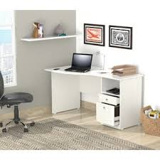 inval laricina white modern straight computer writing desk with