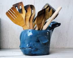 kitchen utensil canister utensil holder etsy