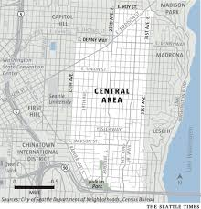 Seattle Area Crime Map by Historically Black Central District Could Be Less Than 10 Black