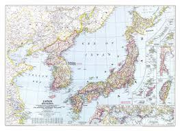 National Geographic Topo Maps Japan And Korea Map 1945 Maps Com