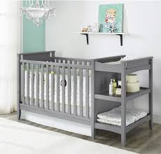baby crib and dresser set furniture white brown nursery room with