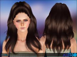the sims 4 cc hair ponytail dimensional ponytail candle hairstyle by alesso sims 3 hairs