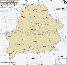 russia map belarus latitude and longitude map