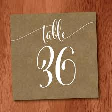 wedding table number fonts kraft and white table number card designed by veronica foley designs