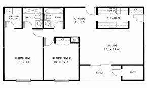 two bedroom two bathroom house plans plans bedroom cabin floor small with open plan cottage house 1