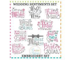 wedding sentiments wedding sentiments sayings embroidery set creative appliques