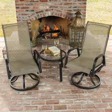 Madison Outdoor Furniture by Madison Bay 3 Piece Sling Patio Bistro Set With Swivel Rockers And