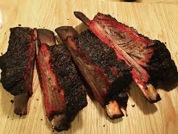 homemade smoked beef ribs food