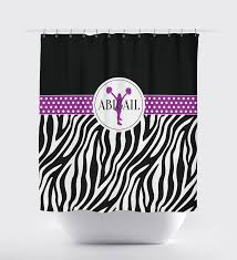 Shower Curtains Purple Cheer Shower Curtain With Silhouette U0026 Zebra Print U2013 Shop Wunderkinds