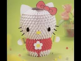 cara membuat origami hello kitty 3d hello kitty origami instructions choice image coloring pages adult