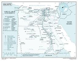 Map Of Egypt And Africa by Large Detailed Political And Administrative Map Of Egypt With