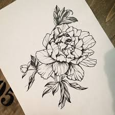 flower tattoo design on rib