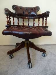 swivel captains chair mahogany chesterfield captains swivel chair posot class