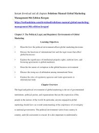 solutions manual global marketing management 8th edition keegan