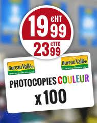 bureau vall 77 abonnement de 100 photocopies couleur chez bureau vallee bons