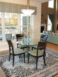 Area Rug Ideas Dining Room Great Looking Dining Room Design With Grey Leather